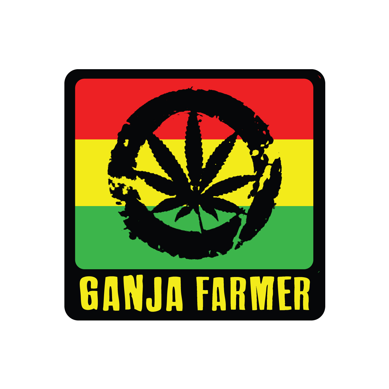rasta sticker ganja farmer